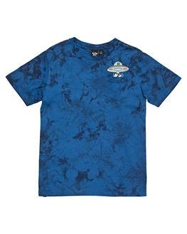BLUE TIE DYE KIDS BOYS ALPHABET SOUP TOPS - AS-KTC8314BLTIE