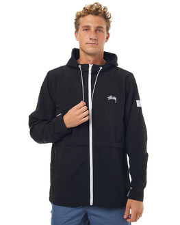 BLACK MENS CLOTHING STUSSY JACKETS - ST071500BLK