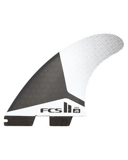BLACK WHITE BOARDSPORTS SURF FCS FINS - FJSL-PC01-TS-RBKWHT