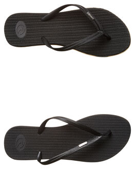 BLACK KIDS GIRLS RIP CURL THONGS - TOTCR30090