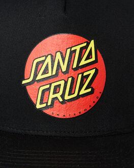 BLACK KIDS BOYS SANTA CRUZ HEADWEAR - SC-YCNC018BLK