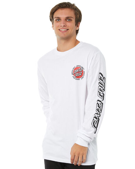 WHITE MENS CLOTHING SANTA CRUZ TEES - SC-MLA8827WHT