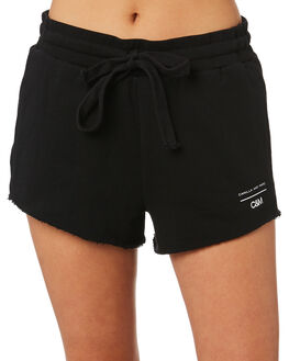 BLACK WOMENS CLOTHING C&M CAMILLA AND MARC SHORTS - WCMP4361BLK