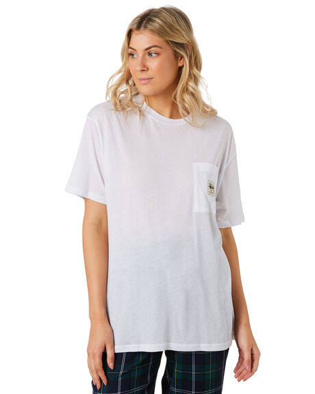 WHITE WOMENS CLOTHING STUSSY TEES - ST192007WHI