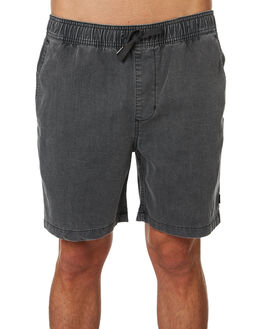 WASHED BLACK MENS CLOTHING RIP CURL SHORTS - CWAMN18264