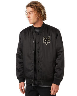 BLACK MENS CLOTHING ZOO YORK JACKETS - ZY-MJA8161BLK