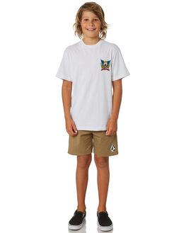 WHITE KIDS BOYS SANTA CRUZ TOPS - SC-YTA9171WHT