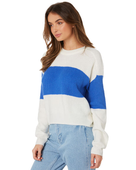 WHITE BLUE OUTLET WOMENS TWIIN KNITS + CARDIGANS - IE19S2801WHBL