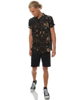 AUTUMN BLACK MENS CLOTHING ROLLAS SHIRTS - 201052713