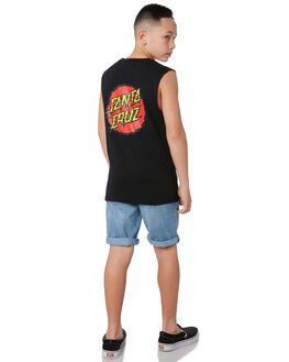 BLACK KIDS BOYS SANTA CRUZ TOPS - SC-YTC9229BLK