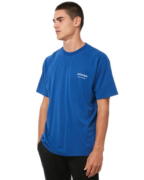 ROYAL BLUE MENS CLOTHING AFENDS TEES - M182012RBLU