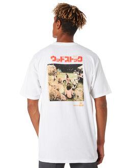 WHITE MENS CLOTHING HUF TEES - TS00987WHITE