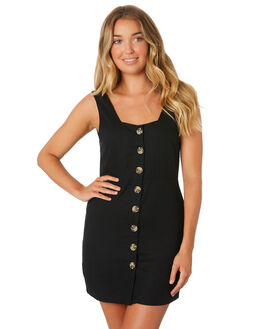 BLACK WOMENS CLOTHING THE BARE ROAD DRESSES - 990341-07BLK