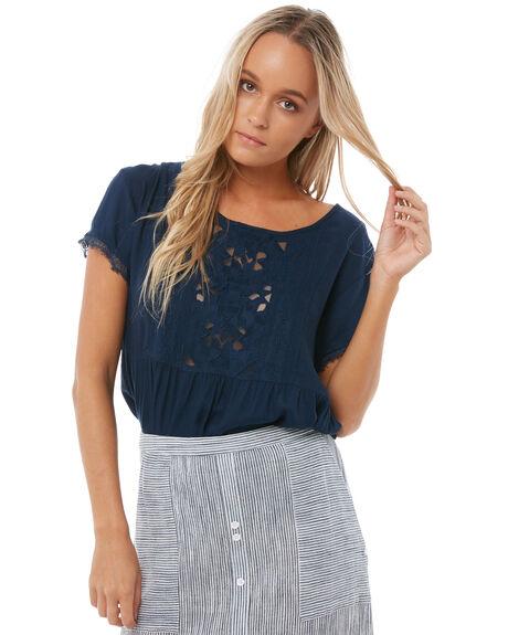DRESS BLUES WOMENS CLOTHING ROXY FASHION TOPS - ERJWT03199BTK0
