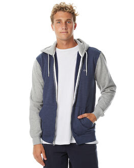 NAVY BLAZER HEATHER MENS CLOTHING QUIKSILVER JUMPERS - EQYFT03562BYJH