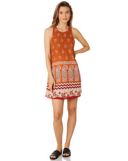 RUST WOMENS CLOTHING TIGERLILY DRESSES - T395449RUS