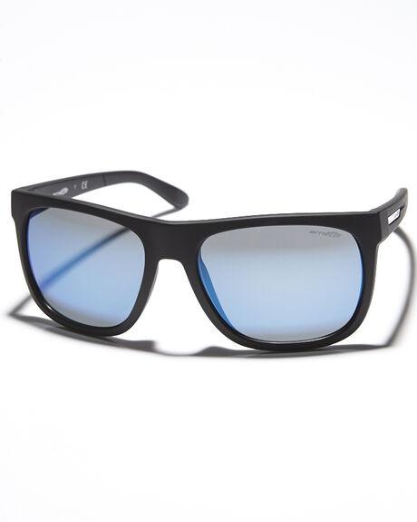 Arnette Herren Sonnenbrille Fire Drill, matte black/blue mirror, AN4143-12,
