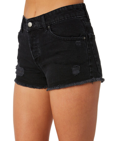 BLACK USED WOMENS CLOTHING ROXY SHORTS - ERJDS03166KTW0