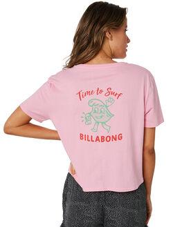 PARADISE PINK WOMENS CLOTHING BILLABONG TEES - 6582011PDP