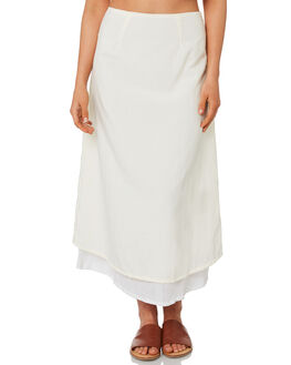 CREAM WOMENS CLOTHING ZULU AND ZEPHYR SKIRTS - ZZ2763CRM