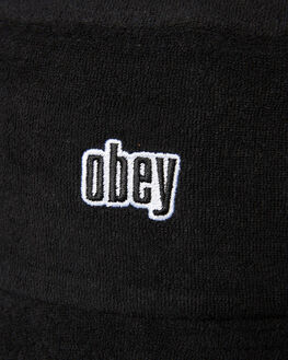 BLACK MENS ACCESSORIES OBEY HEADWEAR - 100520018BLK