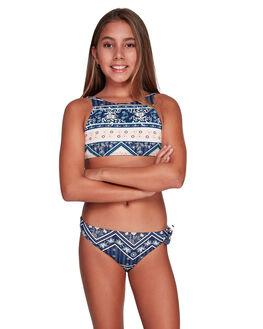 MED BLUE NEWPORT KIDS GIRLS ROXY SWIMWEAR - ERGX203200-BTE7