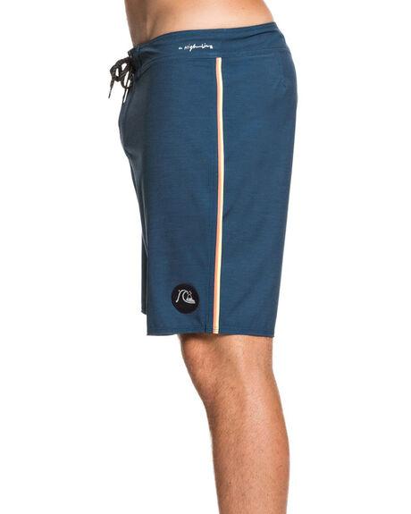 MAJOLICA BLUE MENS CLOTHING QUIKSILVER BOARDSHORTS - EQYBS04314-BSM0
