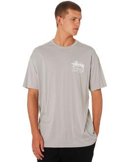 FLAT GREY MENS CLOTHING STUSSY TEES - ST096000FGREY