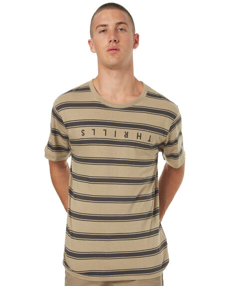 CHARCOAL MENS CLOTHING THRILLS TEES - SMU-149CHAR