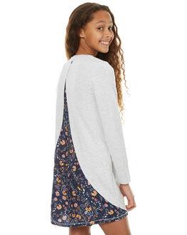 GREY MARLE FLORAL KIDS GIRLS EVES SISTER DRESSES - 9990126GRM
