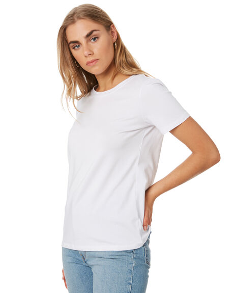 WHITE WOMENS CLOTHING BETTY BASICS TEES - BB252WHI