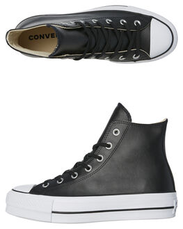 BLACK WOMENS FOOTWEAR CONVERSE SNEAKERS - 561675BLK