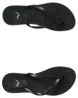 BLACK STEALTH WOMENS FOOTWEAR RUSTY THONGS - FOL0196BAH