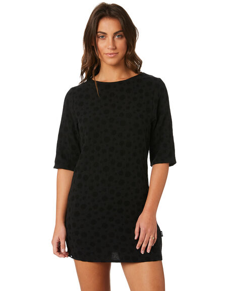 BLACK WOMENS CLOTHING RPM DRESSES - 8PWD03ABLK