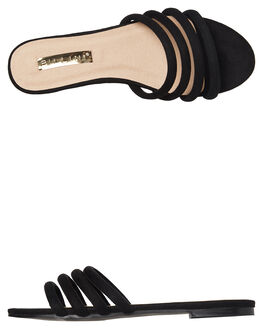 BLACK SUEDE WOMENS FOOTWEAR BILLINI FASHION SANDALS - S543BLKSD