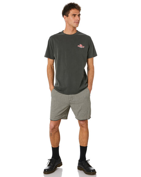 MERCH BLACK MENS CLOTHING THRILLS TEES - TH20-121BMMBLK