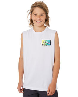 WHITE KIDS BOYS RUSTY TOPS - MSB0089WHT
