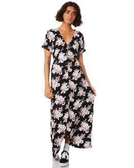 BLACK COMBO WOMENS CLOTHING VOLCOM DRESSES - B13218S0BLC