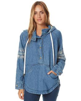 BLUE DENIM WOMENS CLOTHING O'NEILL JACKETS - HO6402003BLU