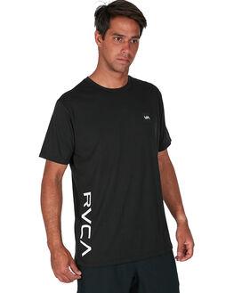 BLACK MENS CLOTHING RVCA TEES - RV-R307042-BLK