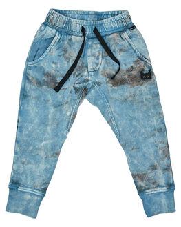 WASHED BLUE KIDS TODDLER BOYS MUNSTER KIDS PANTS - MK181TR02WBLU