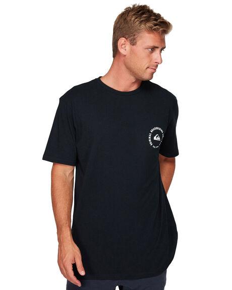 BLACK MENS CLOTHING QUIKSILVER TEES - EQYZT05273-KVJ0