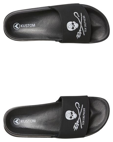 BLACK MENS FOOTWEAR KUSTOM SLIDES - 4983205BLK