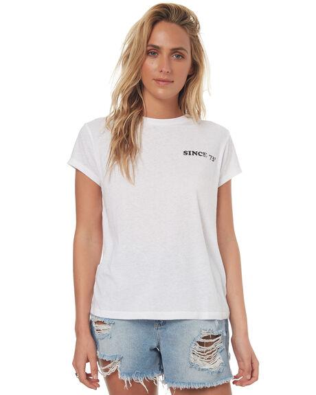 WHITE WOMENS CLOTHING BILLABONG TEES - 6572019WHT