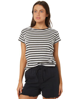 GREY MARLE STRIPE WOMENS CLOTHING SILENT THEORY TEES - 6085039GRM