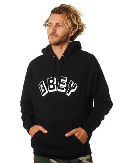 BLACK MENS CLOTHING OBEY JUMPERS - 111731644BLK