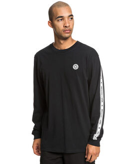 BLACK MENS CLOTHING DC SHOES TEES - UDYZT03587-KVJ0