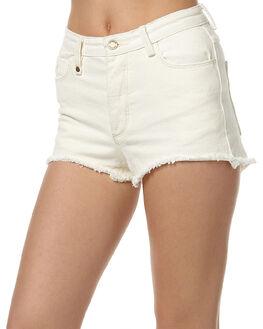 BONE WHITE WOMENS CLOTHING THRILLS SHORTS - WTDP-310ABONE