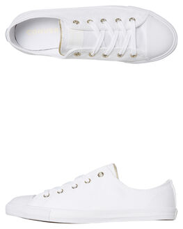 WHITE WOMENS FOOTWEAR CONVERSE SNEAKERS - 564309CWHT