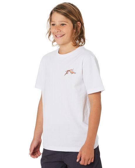WHITE KIDS BOYS RUSTY TOPS - TTB0633WHT